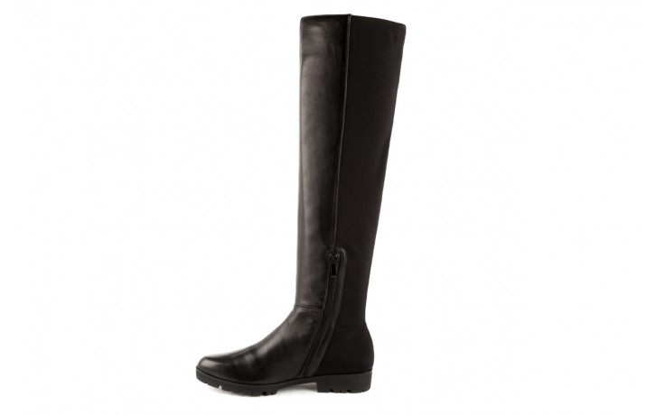 Kozaki bayla-106 4225009 black, czarny, skóra naturalna/materiał - za kolano / muszkieterki - kozaki - buty damskie - kobieta 2