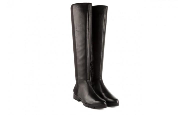 Kozaki bayla-106 4225009 black, czarny, skóra naturalna/materiał - za kolano / muszkieterki - kozaki - buty damskie - kobieta 1