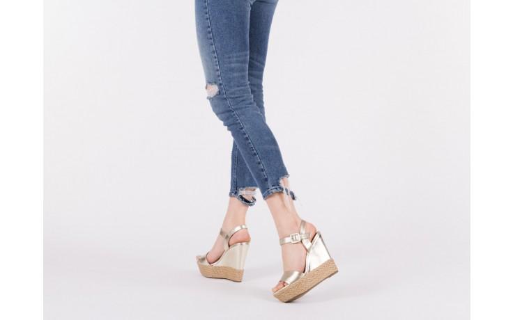 Sandały bayla-109 911001 np met gold rope nat, beż, skóra ekologiczna - bayla - nasze marki 6