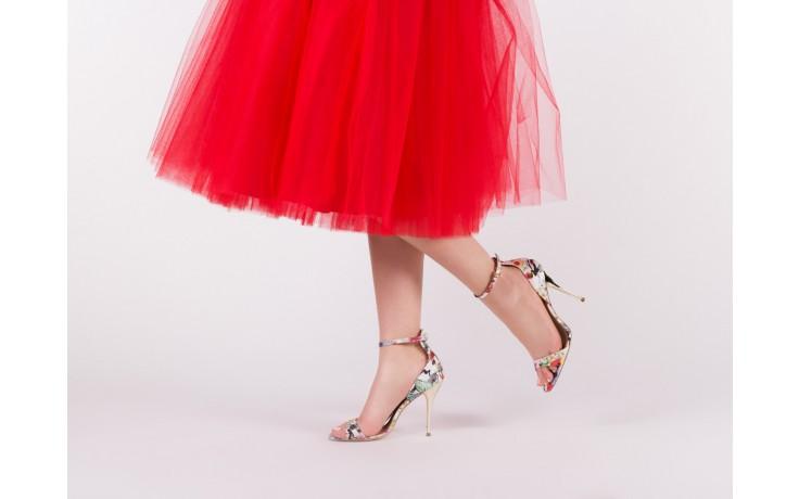 Sandały bayla-109 914002 satin flora, wielkolorowy, materiał - bayla - nasze marki 6