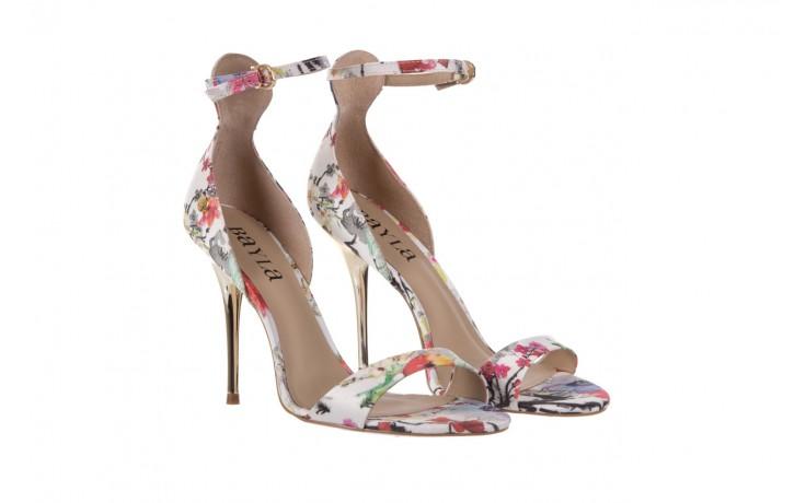 Sandały bayla-109 914002 satin flora, wielkolorowy, materiał - bayla - nasze marki 1
