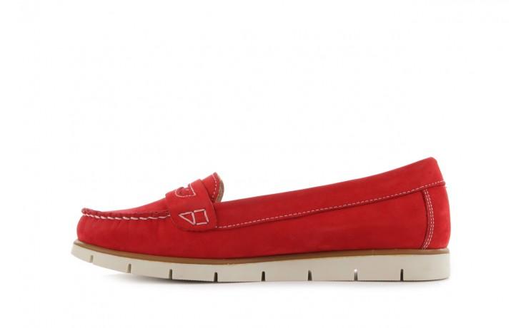 Mokasyny bayla-112 058-519 15yy byn kirmizi nubuck - red, czerwony, skóra naturalna - bayla - nasze marki 2