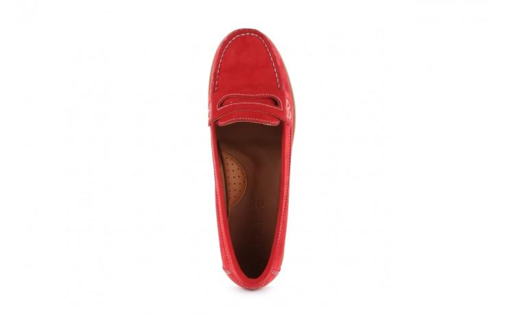 Mokasyny bayla-112 058-519 15yy byn kirmizi nubuck - red, czerwony, skóra naturalna - bayla - nasze marki 4