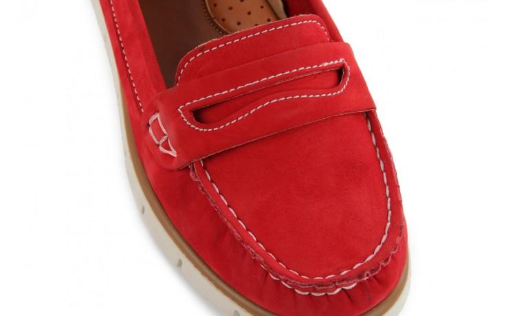 Mokasyny bayla-112 058-519 15yy byn kirmizi nubuck - red, czerwony, skóra naturalna - bayla - nasze marki 5