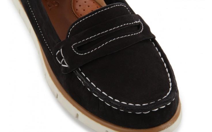 Mokasyny bayla-112 058-519 15yy byn siyah nubuck - black, czarny, skóra naturalna 5