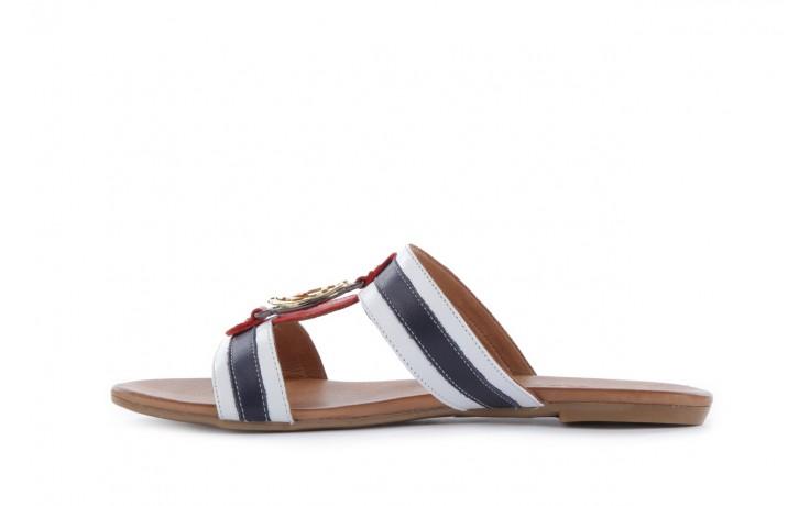 Klapki bayla-112 243-460 by byz laci krmz - white navy red 16, biały/niebieski/czerwony, skóra naturalna - bayla - nasze marki 2