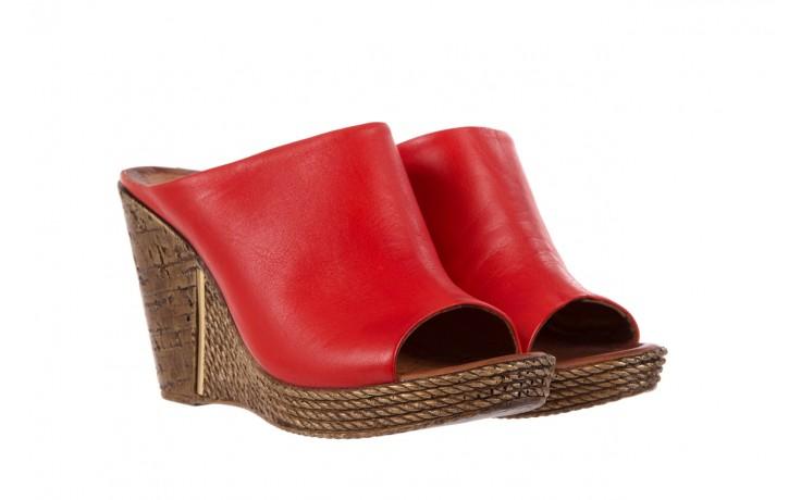 Klapki bayla-112 270-88 by kirmizi, czerwony, skóra naturalna  - bayla - nasze marki 1