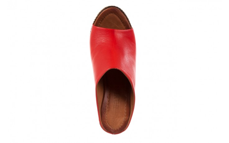 Klapki bayla-112 270-88 by kirmizi, czerwony, skóra naturalna  - bayla - nasze marki 4