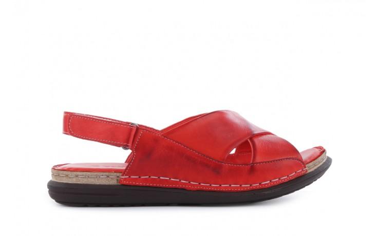 Sandały bayla-112 473-462-329 kirmizi - red , czerwony, skóra naturalna - bayla - nasze marki