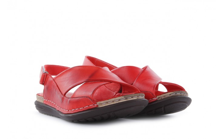 Sandały bayla-112 473-462-329 kirmizi - red , czerwony, skóra naturalna - bayla - nasze marki 1