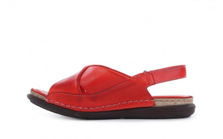 Sandały bayla-112 473-462-329 kirmizi - red , czerwony, skóra naturalna - bayla - nasze marki 2
