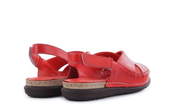 Sandały bayla-112 473-462-329 kirmizi - red , czerwony, skóra naturalna - bayla - nasze marki 3