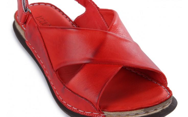 Sandały bayla-112 473-462-329 kirmizi - red , czerwony, skóra naturalna - bayla - nasze marki 5