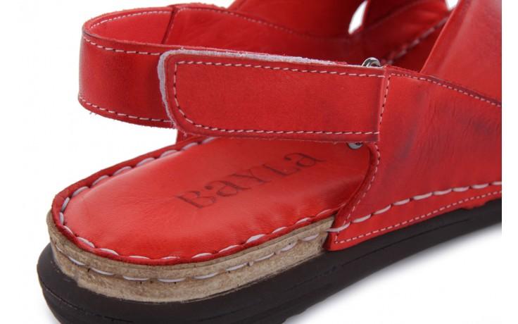 Sandały bayla-112 473-462-329 kirmizi - red , czerwony, skóra naturalna - bayla - nasze marki 6