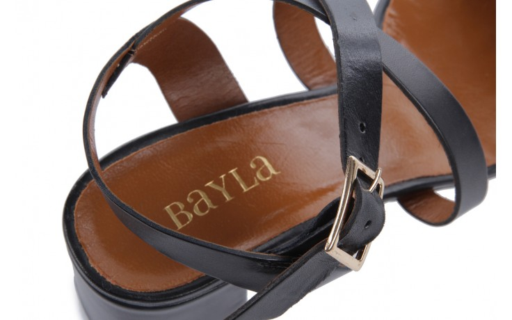 Sandały bayla-114 1310 nero, czarny, skóra naturalna - bayla - nasze marki 6
