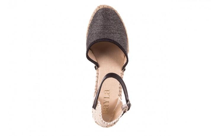 Espadryle bayla-115 402009 lory negro, czarny/srebrny, materiał  - espadryle - buty damskie - kobieta 4