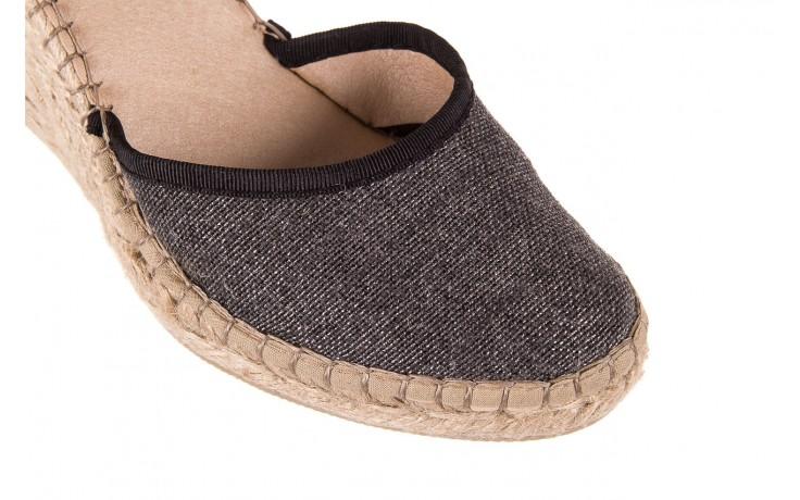 Espadryle bayla-115 402009 lory negro, czarny/srebrny, materiał  - espadryle - buty damskie - kobieta 5