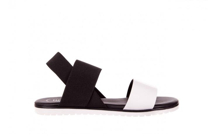 Sandały bayla-116 16161 white black black, czarny/ biały, materiał  - bayla - nasze marki