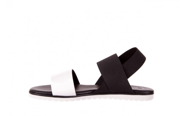 Sandały bayla-116 16161 white black black, czarny/ biały, materiał  - bayla - nasze marki 2