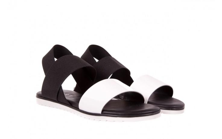 Sandały bayla-116 16161 white black black, czarny/ biały, materiał  - bayla - nasze marki 1