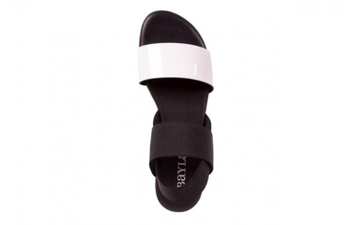 Sandały bayla-116 16161 white black black, czarny/ biały, materiał  - bayla - nasze marki 4