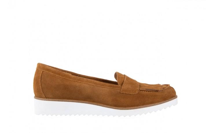 Mokasyny bayla-118 3076 crosta cuoio, brąz, skóra naturalna  - zamszowe - półbuty - buty damskie - kobieta