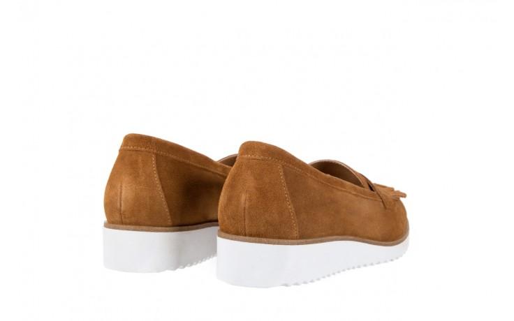 Mokasyny bayla-118 3076 crosta cuoio, brąz, skóra naturalna  - zamszowe - półbuty - buty damskie - kobieta 3