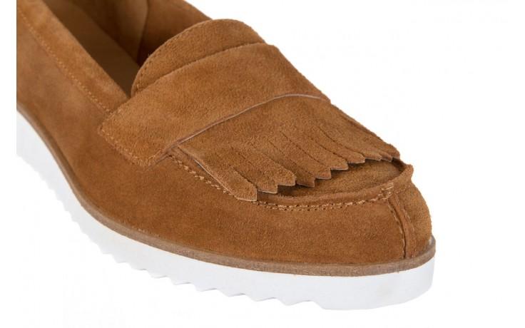 Mokasyny bayla-118 3076 crosta cuoio, brąz, skóra naturalna  - zamszowe - półbuty - buty damskie - kobieta 5