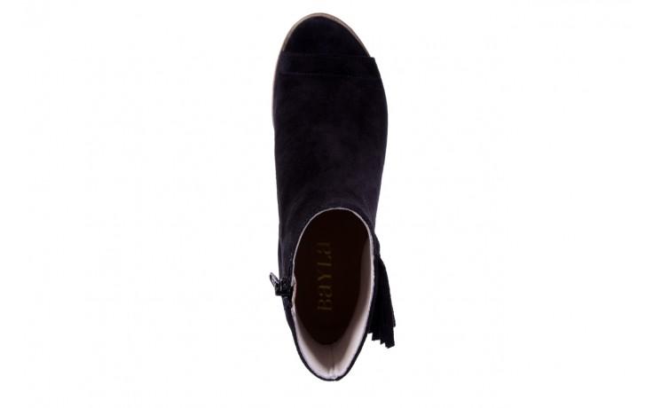 Botki bayla-118 3113 crosta nero, czarny, skóra naturalna  - kowbojki / boho - botki - buty damskie - kobieta 5