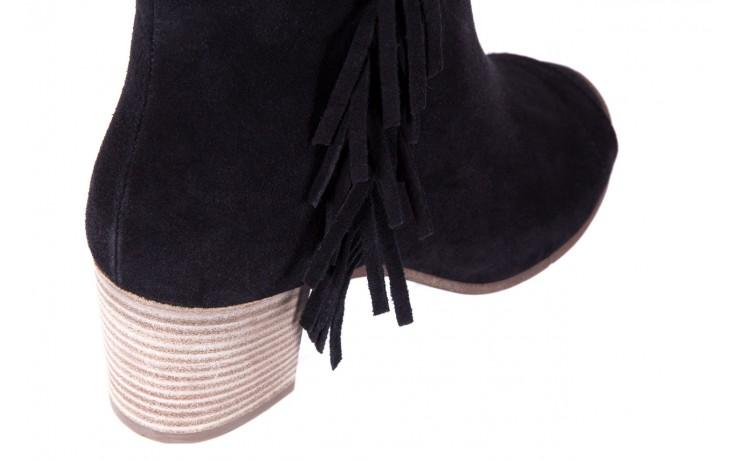 Botki bayla-118 3113 crosta nero, czarny, skóra naturalna  - kowbojki / boho - botki - buty damskie - kobieta 2