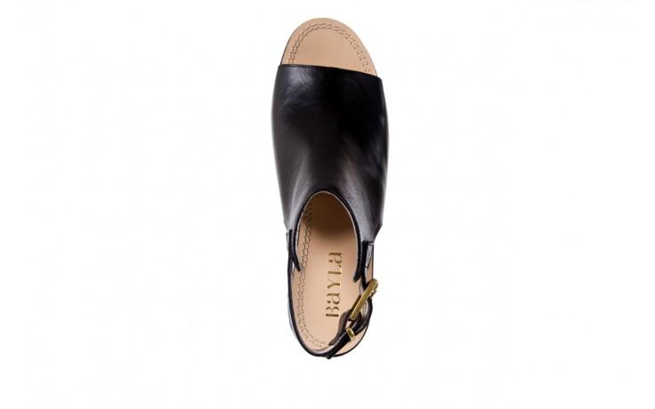 Sandały bayla-118 5056 flag nero, czarny, skóra naturalna  - bayla - nasze marki 4