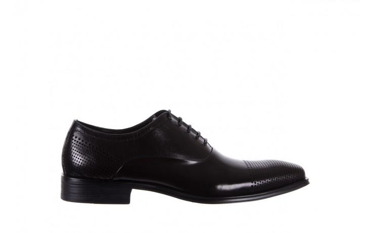 Półbuty bayla-122 at1328-1 black, czarny, skóra naturalna  - obuwie wizytowe - buty męskie - mężczyzna