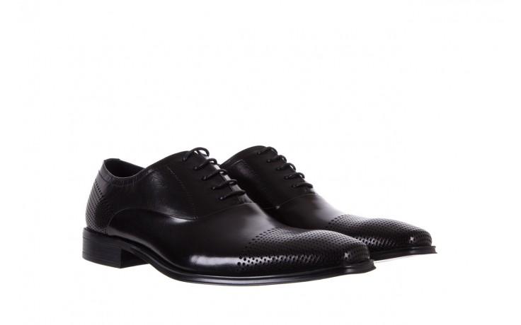 Półbuty bayla-122 at1328-1 black, czarny, skóra naturalna  - obuwie wizytowe - buty męskie - mężczyzna 1