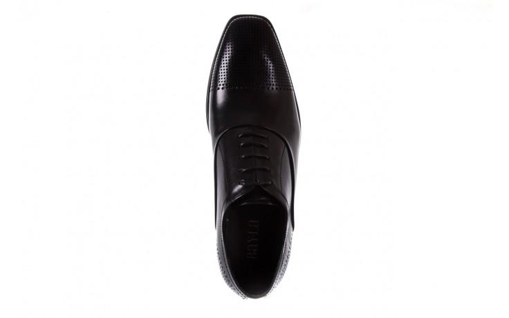 Półbuty bayla-122 at1328-1 black, czarny, skóra naturalna  - obuwie wizytowe - buty męskie - mężczyzna 4