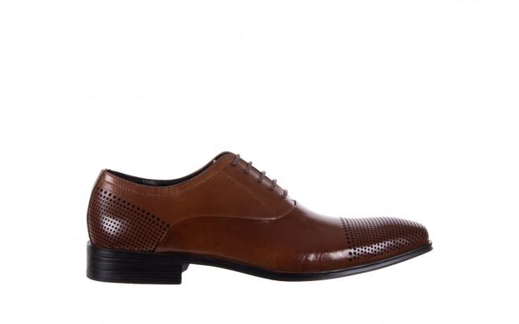 Półbuty bayla-122 at1328-1 brown, brąz, skóra naturalna  - obuwie wizytowe - buty męskie - mężczyzna