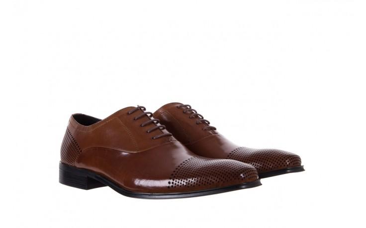 Półbuty bayla-122 at1328-1 brown, brąz, skóra naturalna  - obuwie wizytowe - buty męskie - mężczyzna 1