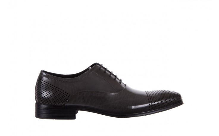 Półbuty bayla-122 at1328-1 grey, szary, skóra naturalna  - obuwie wizytowe - buty męskie - mężczyzna