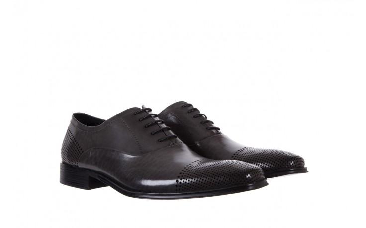 Półbuty bayla-122 at1328-1 grey, szary, skóra naturalna  - obuwie wizytowe - buty męskie - mężczyzna 1