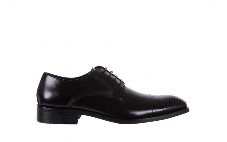 Półbuty bayla-122 at1329-1 black, czarny, skóra naturalna  - obuwie wizytowe - buty męskie - mężczyzna