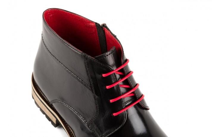 Trzewiki bayla-122 at229-1 black, czarny, skóra naturalna - obuwie wizytowe - dla niego - sale 5