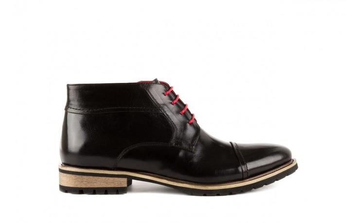 Trzewiki bayla-122 at229-1 black, czarny, skóra naturalna - obuwie wizytowe - dla niego - sale
