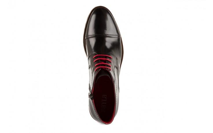 Trzewiki bayla-122 at229-1 black, czarny, skóra naturalna - obuwie wizytowe - dla niego - sale 4