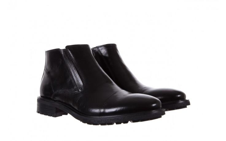 Trzewiki bayla-122 at229-6 black, czarny, skóra naturalna  - wizytowe - trzewiki - buty męskie - mężczyzna 1