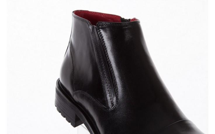 Trzewiki bayla-122 at229-6 black, czarny, skóra naturalna  - wizytowe - trzewiki - buty męskie - mężczyzna 5