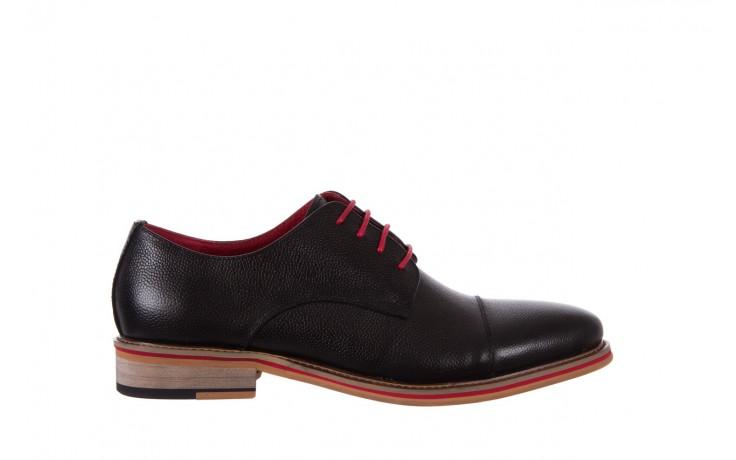 Półbuty bayla-122 at365-2 black, czarny, skóra naturalna  - obuwie wizytowe - buty męskie - mężczyzna