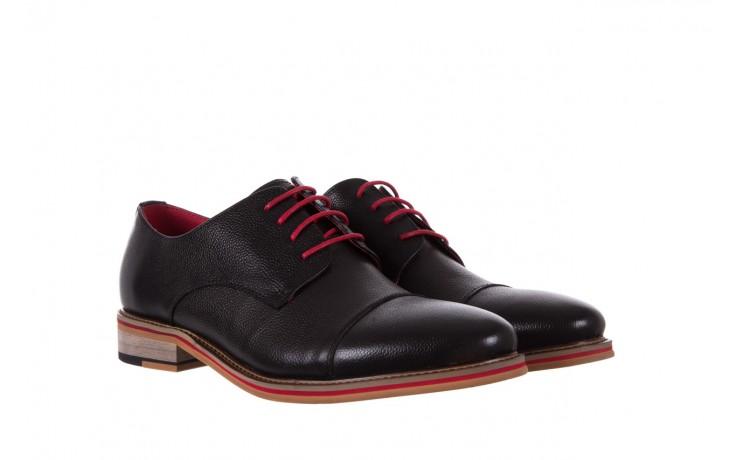 Półbuty bayla-122 at365-2 black, czarny, skóra naturalna  - obuwie wizytowe - buty męskie - mężczyzna 1