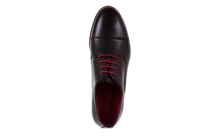 Półbuty bayla-122 at365-2 black, czarny, skóra naturalna  - obuwie wizytowe - buty męskie - mężczyzna 4