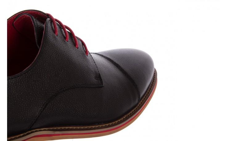 Półbuty bayla-122 at365-2 black, czarny, skóra naturalna  - obuwie wizytowe - buty męskie - mężczyzna 6