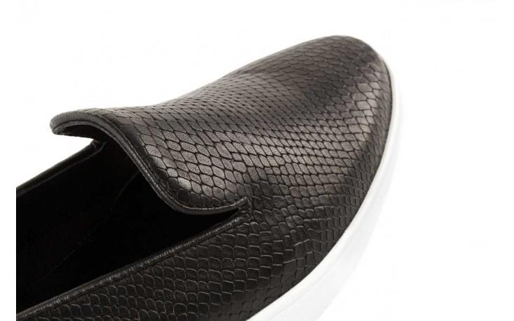 Trampki bayla-123 5500101-2 black snake, czarny, skóra naturalna - bayla - nasze marki 5