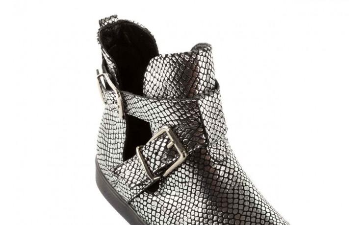 Trampki bayla-123 5500113 silver snake, srebrny, skóra naturalna - bayla - nasze marki 5